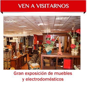Exposición de muebles y electrodomésticos