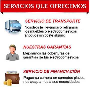 Servicios que ofrecemos - Muebles Redondo